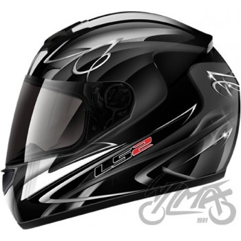 KASK LS2 FF350 DIAMOND II BLACK WHITE