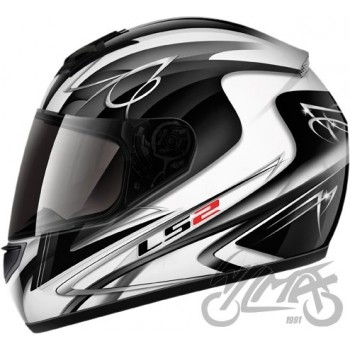 KASK LS2 FF350 DIAMOND II WHITE BLACK