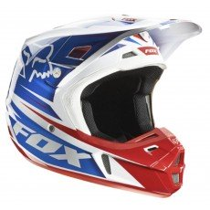 KASK CROSS FOX V-2 RACE WHITE/RED/BLUE