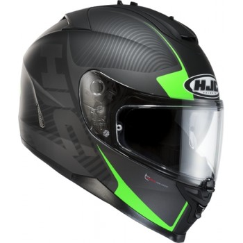 KASK HJC IS-17 MISSION BLACK/GREEN