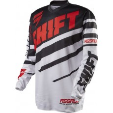 BLUZA SHIFT ASSAULT RACE BLACK/WHITE